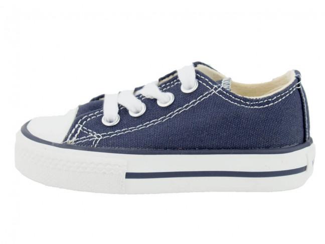 Zapatillas lona niño niña Victoria azul marino