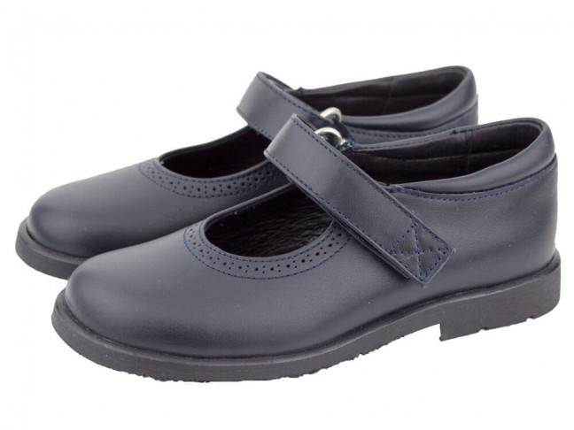 Zapatos colegiales Merceditas HAMILTOM AZUL MARINO