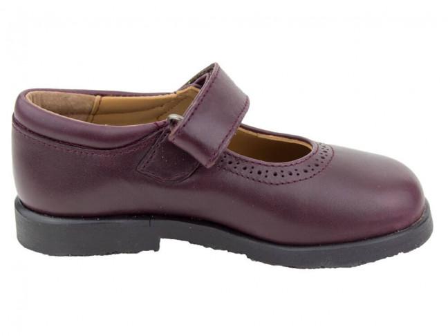 Zapatos colegiales Merceditas HAMILTOM BURDEOS