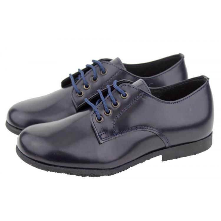 Zapatos colegiales Blucher Florentik HAMILTOM AZUL MARINO
