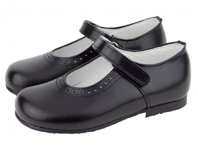 Zapatos colegiales Merceditas HAMILTOM brillo azul marino