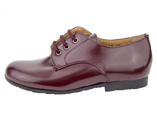 Zapatos colegiales Blucher Florentik HAMILTOM burdeos