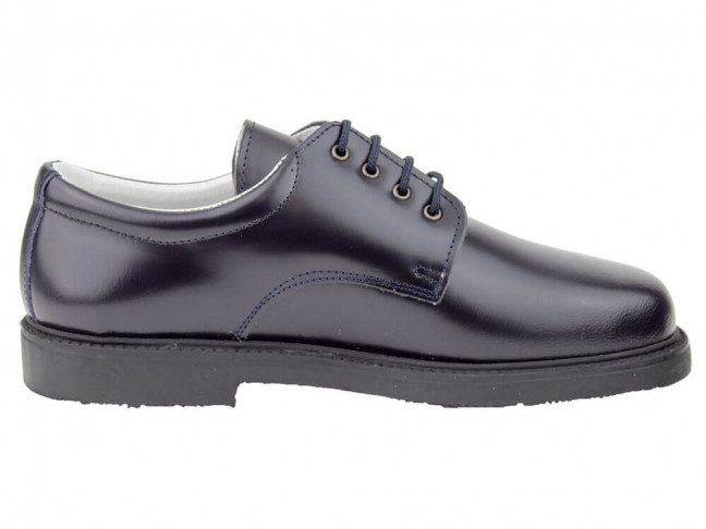 Zapatos colegiales Blucher HAMILTOM suela gruesa azul marino