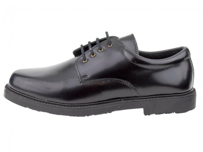 Zapatos colegiales Blucher HAMILTOM suela gruesa negro