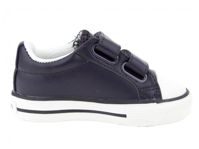 Zapatillas piel vegana niño niña Victoria azul marino
