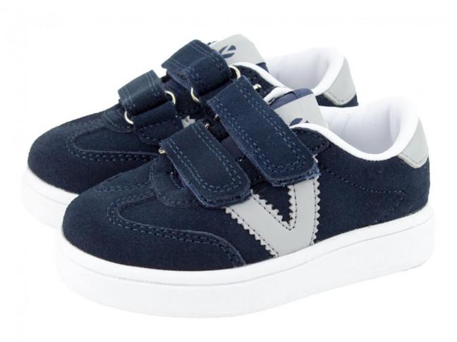 Zapatillas niño niña Serraje Victoria azul marino