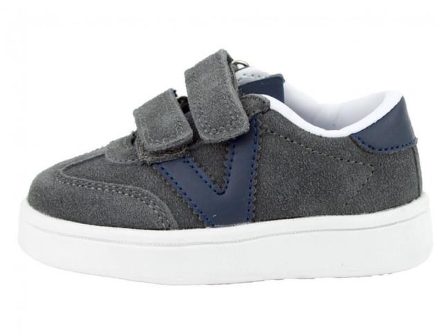 Zapatillas niño niña Serraje Victoria gris