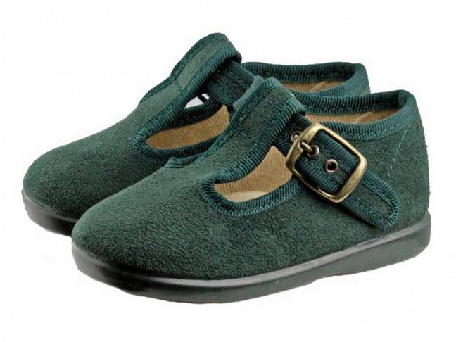 Zapatos pepitos niños serratex verde