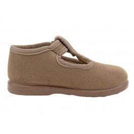 Zapatos pepitos niños serratex topo