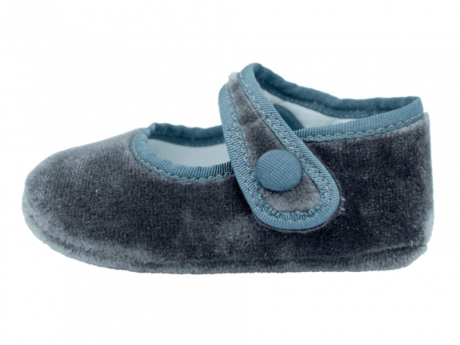 Merceditas bebe terciopelo gris