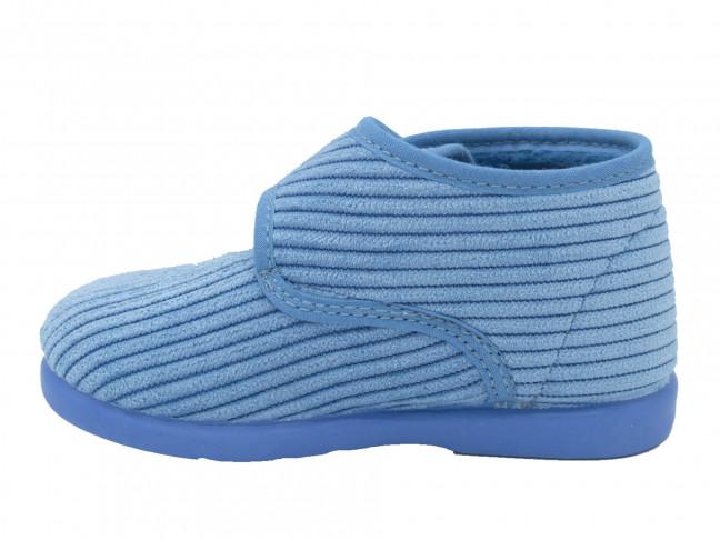 Zapatillas Casa Bota Velcro Azul